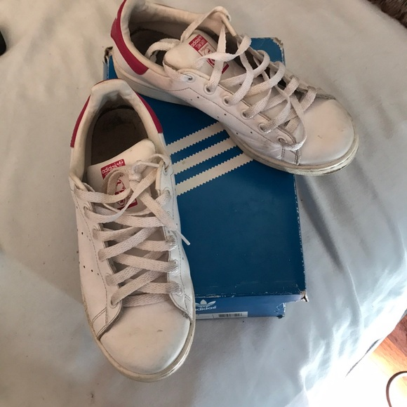 Adidas Stan smith women's sneaker white and pink